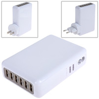 Wholesale Portable USB Ports AC Power Adapter Wall travel Charger for iPhone IPAD Galaxy HTC SAMSUNG quality