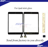 Wholesale for iPad mini with IC Glass Digitizer Touch Screen with Home Button M Adhesive Glue Sticker Replacement Repair Parts Black White