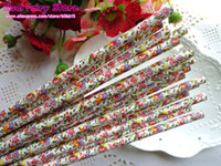 Wholesale Lovely Flower Paper Straws Party straws with FDA Party Drinking Straws