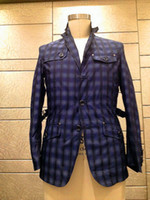 Wholesale 2014new men jacket for Autumn and winter plaid jacket dark blue men s casual jacket a wind proof jackets long sleeve of men s jacket