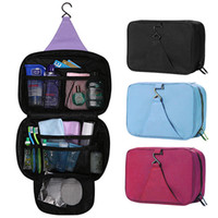 Oxford Cloth toiletry bag - S5Q Hot Travel Cosmetic Makeup Toiletry Purse Pouch Organiser Hanging Women Bag AAACYQ