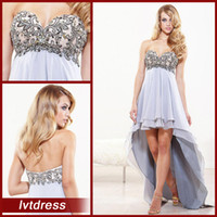 modern dresses - Modern Sery Cheap Quinceanera Dresses Empire sweetheart Hi Lo Chiffon beads crystals Casual Prom Dresses
