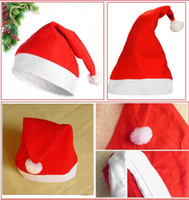 Wholesale EMS Free Christmas Hat Caps Non woven Fabric Hat Santa Claus Father Cotton Cap Christmas Gift Hats S0632