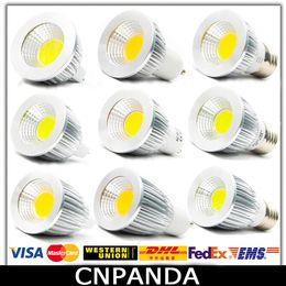 COB Led 5W 7W 9W Ampoules Dimmable GU10 E27 E14 MR16 Led Spot Lumière Chaud / Pure / Cool Lampe Blanche 110-240V CE RoHS à partir de mr16 blanc chaud torchis 5w fournisseurs