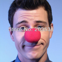 Christmas clown nose - Masquerade Party Sponge Ball Red Clown Magic Nose For Birthday Party and Halloween and Christmas Special Props Clown nose
