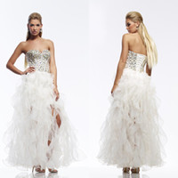 Cheap Reference Images Pageant Dresses for Teens Best Sweetheart Organza Fashionable Prom Dresses