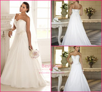 2014 New trend A line chiffon wedding dresses 2015 sweethear...