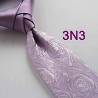 Wholesale BRAND NEW COACHELLA Coachella Ties Different Knot Tie Lilca Silver Floral Gorgeous Necktie Patchwork NeckTie Corbata quality tie Gravata
