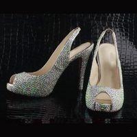 Cheap Wedding bridal accessopry Best High Heel Cowskin bridal shoes