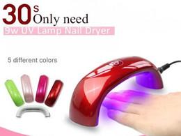 Wholesale 5 Colors Rainbow LED Light Bridge shaped Mini Curing Nail Dryer Nail Art Tools Lamp Care Machine for UV Gel EU Plug JH002