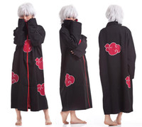Wholesale Halloween Cos Cosplay Naruto Akatsuki Orochimaru Uchiha Madara Sasuke Itachi Pein Clothes Costume Cloak Cape Wind Dust Coat CW0314