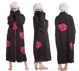 Wholesale Halloween Cos Cosplay Naruto Akatsuki Orochimaru Uchiha Madara Sasuke Itachi Pein Clothes Costume Cloak Cape Wind Dust Coat CW0314