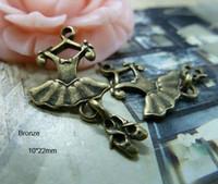Fashion ballet shoe jewelry - Wholesle Antique Bronze Alloy Ballet Dress Shoes Charm Pendant Jewelry Findings mm
