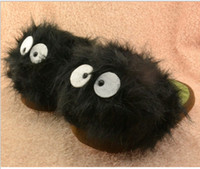 Novelty Slippers adult bunny slippers - My Neighbor Totoro pair quot Ghibli Dust Bunny Adult Plush Doll Slipper Totoro slippers BLACK totoro dust bunny slippers