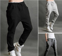 Acetate baggy dance pants - Brand Fashion Spring Summer Casual Jogger Dance Long Baggy Harem Pants Men Sportwears