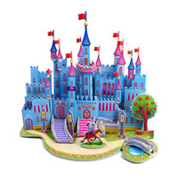 Wholesale Big Size D Puzzle DIY Jigsaw Models House Building Castles Architectural Puzzle Educational Toys in Normal Package