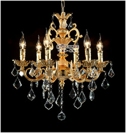 Golden Crystal Chandelier hanging Light Crystal Lusters lustre decorative MD8858-L6