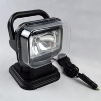 Wholesale HID Spot xenon W Work Light Magnetic HID Xenon Searchlight Car SUV Spotlight Wireless Remote driving lamp Fishing Lights