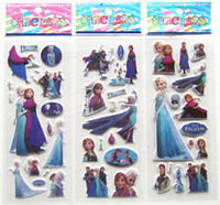 frozen party supplies - 20 sheets cartoon frozen stickers frozen party supplies party favors ELSA ANNA princess classic toys for children baby toy