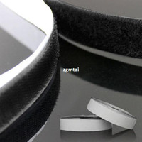 Wholesale HOOK LOOP VELCRO TAPE SELF ADHESIVE SEW STITCH BLACK SIZE M MM E401