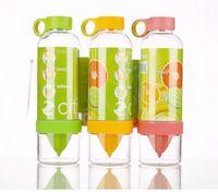 Wholesale Free DHL Citrus Zinger Fruit Infusion Water Bottle Citrus Zinger Water Bottle Bottles Bar with Citrus Juicer Lemon Cup with Retail Package