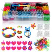 rainbow loom - Colourful Rainbow Rubber Loom Bands Bracelet DIY Making Kit Children Craft R381