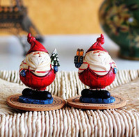 Wholesale Resin handicraft European furnishing articles resin chubby Santa Claus ornament for Christmas