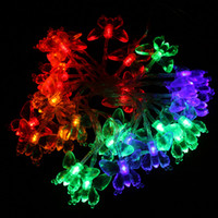 Wholesale 30 LED M Blue RGB light Butterfly Christmas Wedding Party Decoration battery String Lights H8989