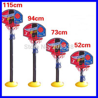 Balls 3 & 4 Years unisex 2014 Indoor Outdoor Four Section Height Adjustment Children Basketball Sport Set Game Toy Child Fitness Toys Basketball Stands