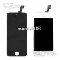 For Apple iPhone LCD Screen Panels Within 48 HRS cheap - - Black White LCD Display & Touch Screen Digitizer Full Assembly for iPhone 5S Replacement Repair Parts