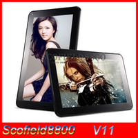 Wholesale V11 Allwinner A33 Android kitkat Quad Core Inch Tablet PC Android kitkat GB GB WIFI Bluetooth Dual Camera