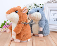 Wholesale Top Quality New Baby Kids Record Toys Speak Talking Sound Record Electronic Hamster Plush Toy b4