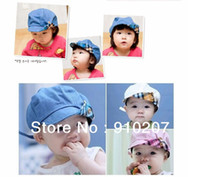 baby cricket - Hot sale Retail piece Spring and summer cute kids hat baby cap infant lovely cricket cap in colors