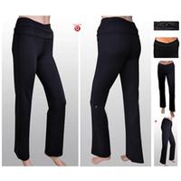 Wholesale 2014 Lululemon Pants High Quality High Elastic Black Leggings Fit Yoga Trousers Lulu lemon Pants Womens Trousers Size XS XL