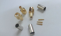 Wholesale gold plated SMA male crimp connector to RG58 LMR195