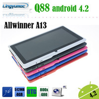 Wholesale Sale Champions Classical inch tablet pc android Optional Q88 allwinner A13 versions available