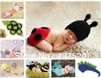 Unisex Summer Crochet Hats Free Shipping 2013 NEW Toddler Boy Girl Baby Beanie Costume Animal Hats Caps Sets Taking Photography Props Knit Crochet DEG
