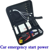 Wholesale New Smart mini mAh Multi Function Jump Starter Car emergency starter car start charging for mobile phone tablet PC Rechargeable Battery