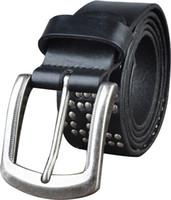 Wholesale Men s First layer Cowskin Belts Brand designer Fashion Business Genuine leather belts Pin buckle Cintos Cinturon M149