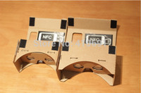 Wholesale The Newest MAX Version Google Cardboard VR Glasses With NFC For Samsung Note Note and other mobile phones below quot