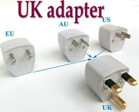 Wholesale Hot US EU AU to UK AC plug adapter switch converter Universal Travel Wall AC Power Charger Outlet Adapter