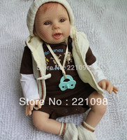 Unisex Birth-12 months Vinyl 2013 fashion Interactive Dolls for boys and girls Lifelike Reborn Baby Doll & High quality 20 inch cute gift