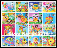 Wholesale Designs cm DIY Handmade D Eva Foam Puzzle Sticker Self adhesive eva crafts toys learning education Toys