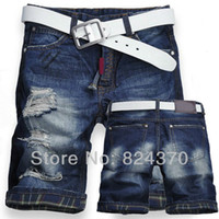 best mens designer jeans - premium quality best price mens shorts designer brand short jeans torn jeans brand pants men trousers Size