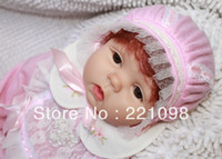 "Unisex Birth-12 months Vinyl 22"" Reborn baby dolls Silicone vinyl doll kits Soft Toys dolls for girls collection handmade high quality gift NPK- LUCY"
