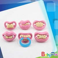 Wholesale Soother Pacy Dummy Buck Teeth Orthodontic Nipples Care Funny pink Baby pacifier hdy