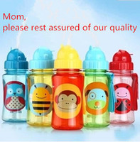 Wholesale Chokecherry Children Cartoon Animal Straw Cup Kids Water Bottle Drinking Cup Leak Proof Sports Bottles