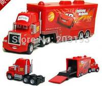 Wholesale T0709 Pixar Cars diecast figure Mack toy Alloy Car Model for kids children Container truck Red No Car