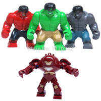 Wholesale Large Hulk Iron Man Hulk Buster Figures Toys Marvel Super Hero The Avengers Building Blocks Sets Model