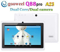 Wholesale DHL FREE gift cheapest inch actions A23 Q88 Dual core Capacitive Android Dual Camera HDMI G Tablet PC HOT